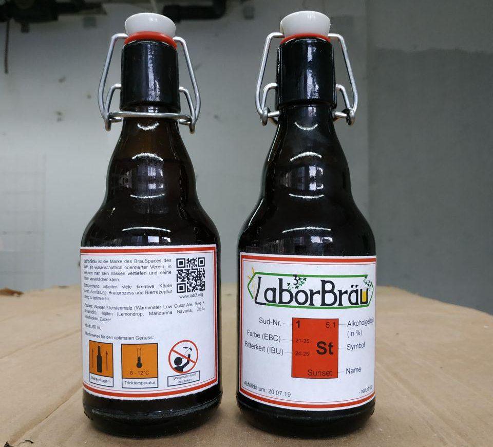 Lab³orbräu ist trinkbereit